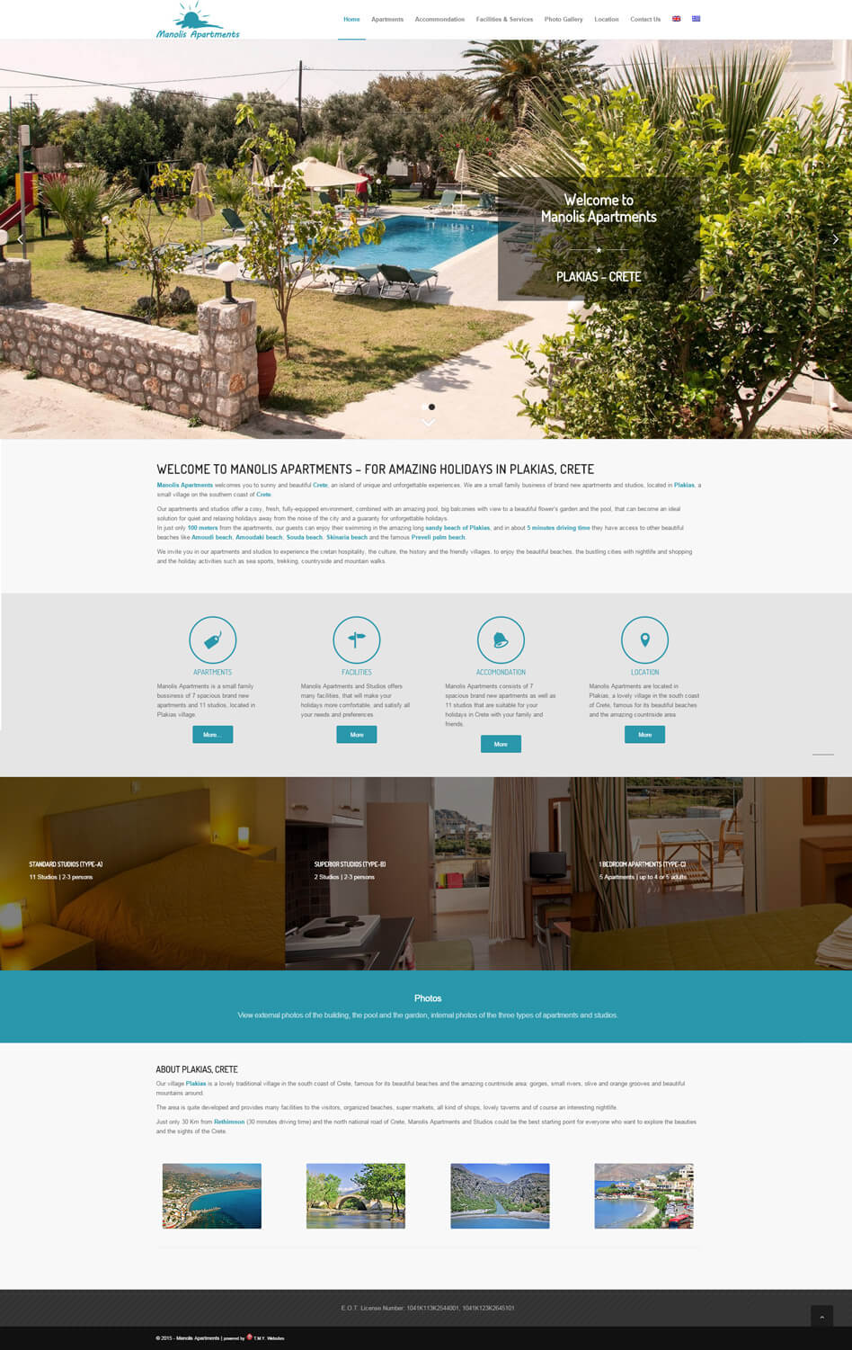 Manolis Apartments - TMY WEB Development