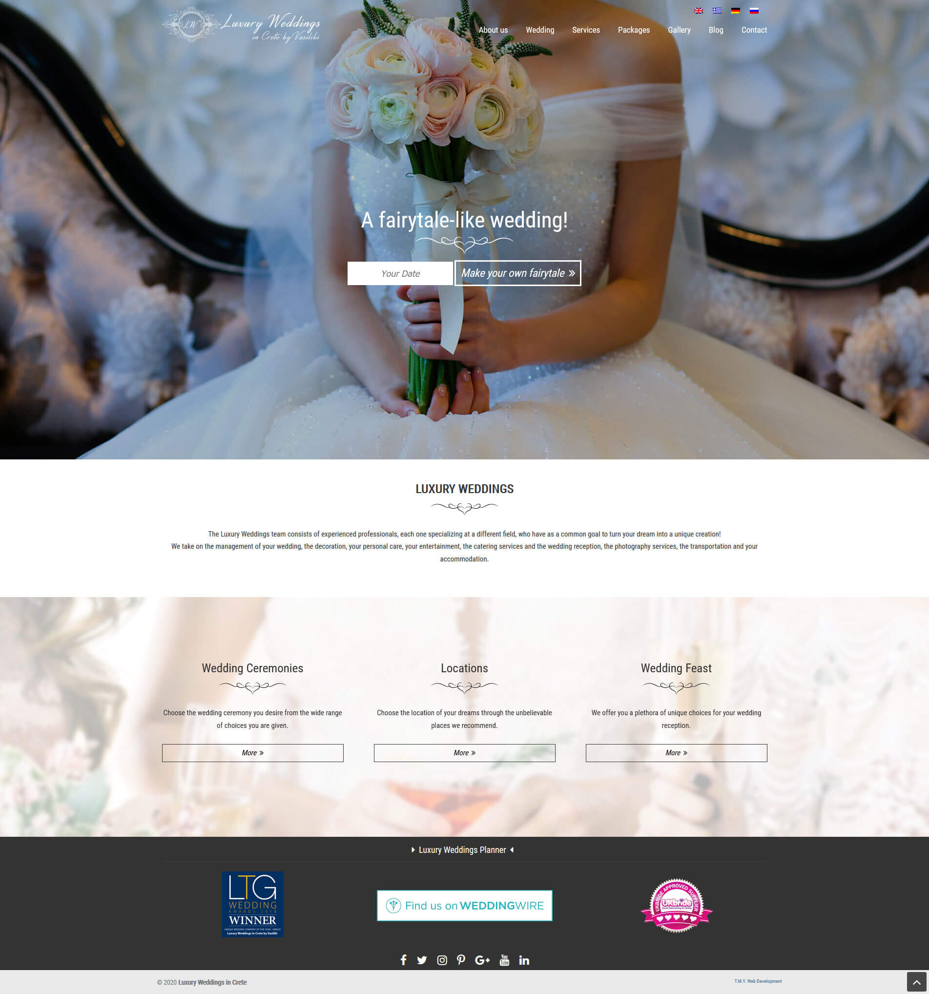 Luxury Weddings - TMY WEB Development