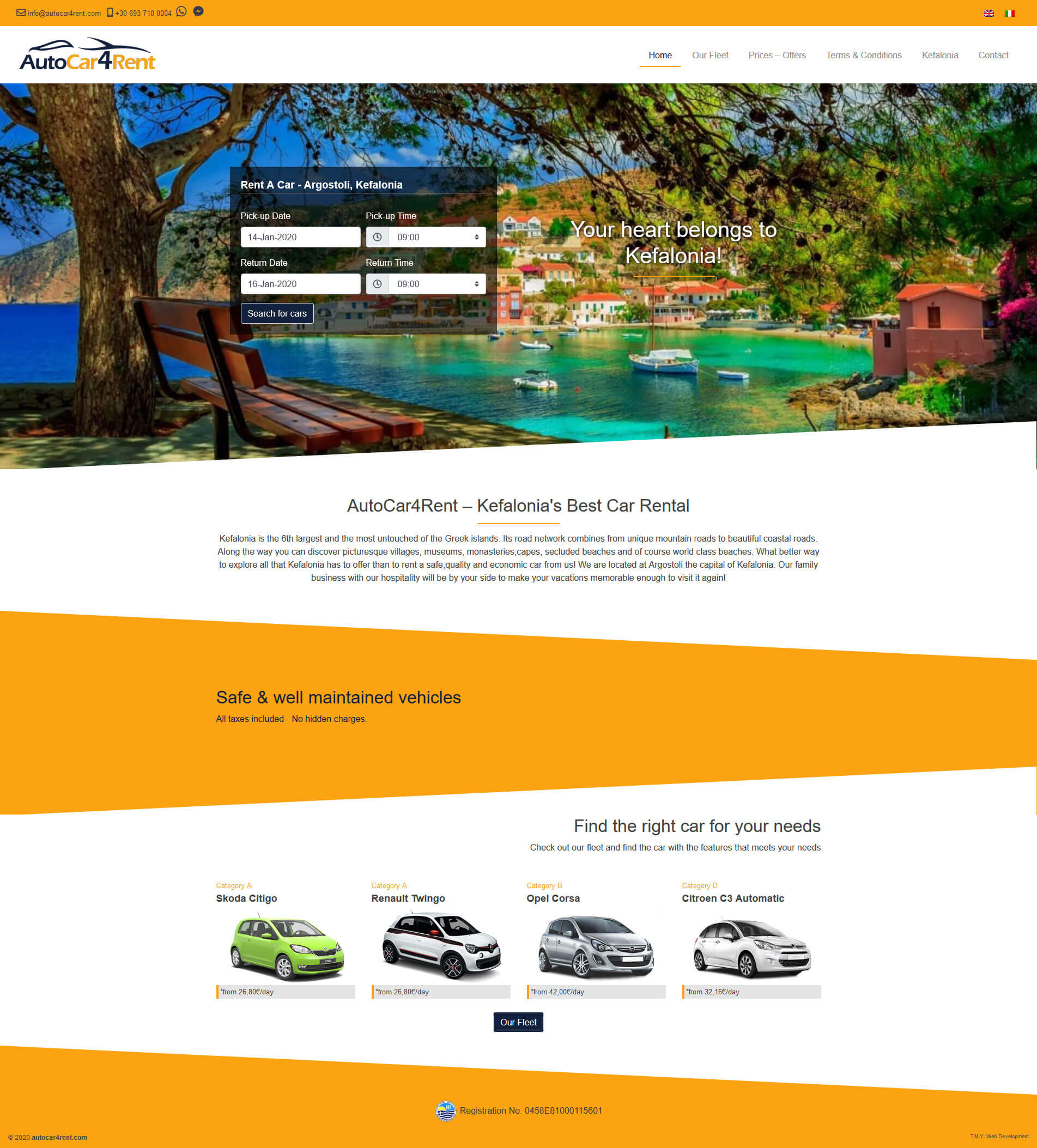 AutoCar4Rent - TMY Web Development