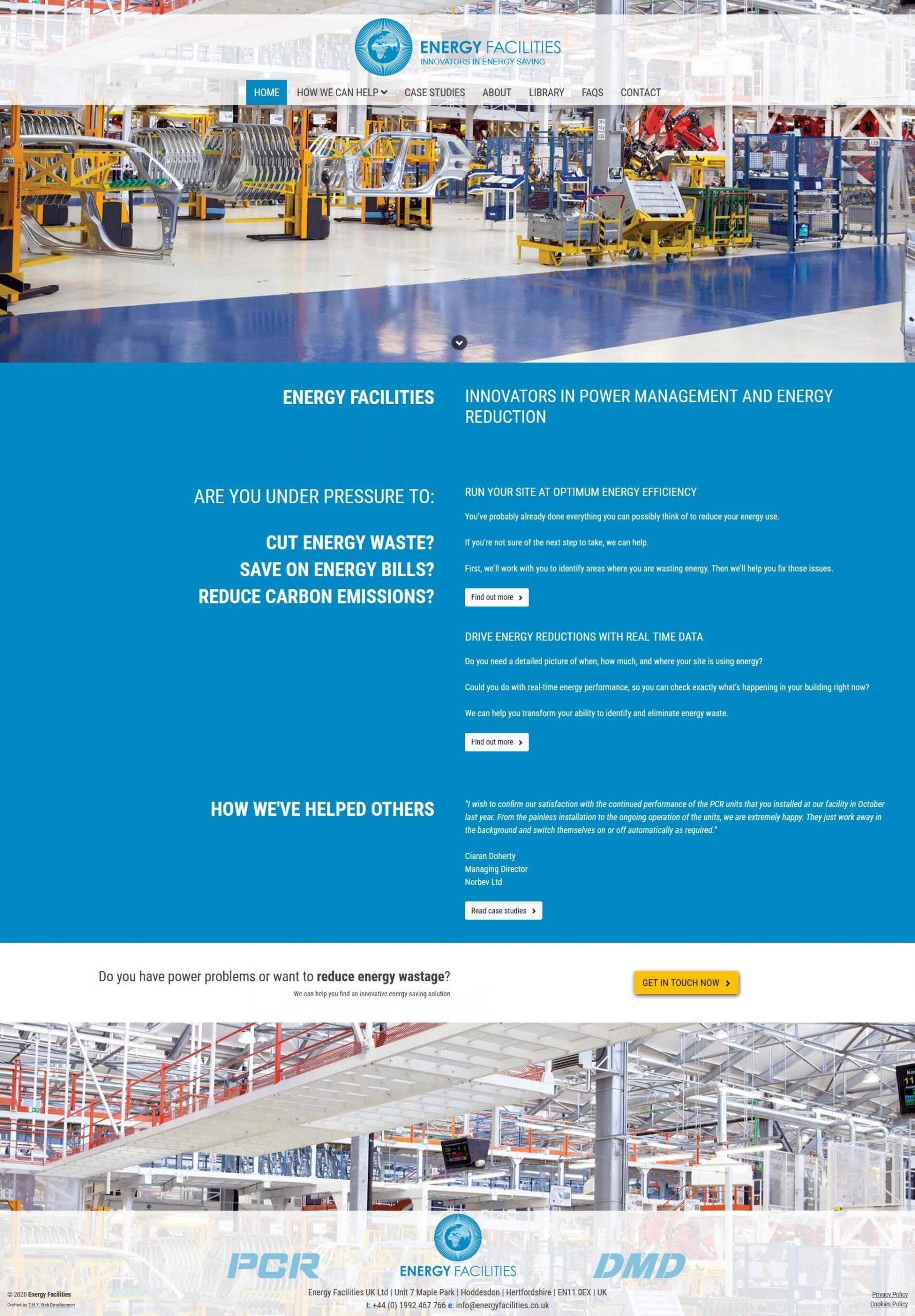 Energy Facilities - Too Mnay Years Web Development